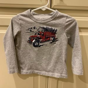 Oshkosh Chris tree truck shirt 24 months gray